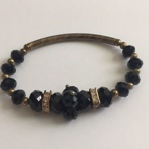Vintage Jewelry - Vintage Jewelry Rhinestone Bronze Base Bracelet